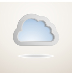 background with a cloud vector image vector image