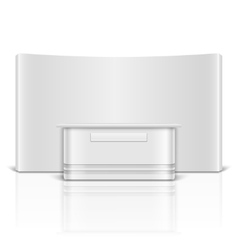 Blank exhibition retail stand counter vector