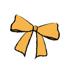 Bow and ribbon decoration element for design vector