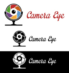 Camera eye logo vector image