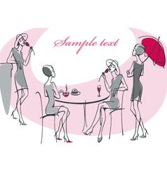 Collection feminine silhouette vector