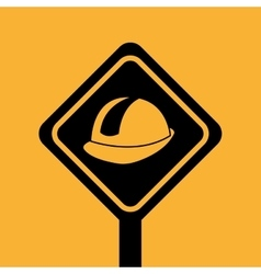 concept constrcution building helmet icon graphic vector image