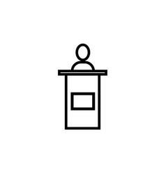 Conference speech man icon vector