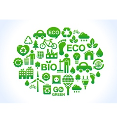 Eco friendly world- icons set vector
