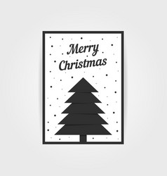 Gothic christmas card with black xmas tree vector