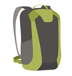 Green backpack vector image