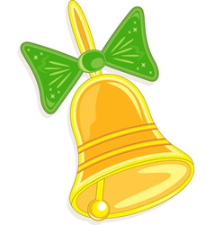 handbell with green bow vector image vector image