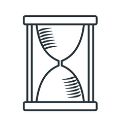 Handdraw icon hourglass vector