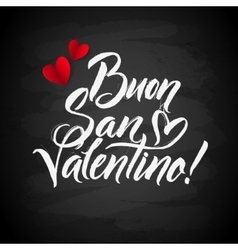 Happy valentines day card italian calligraphic vector