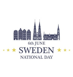 Independence Day Sweden vector image vector image