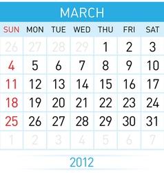 march calendar vector image