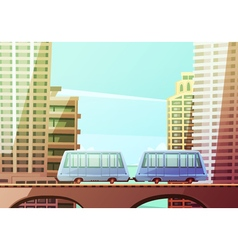 Miami Suspended Monorail vector image vector image