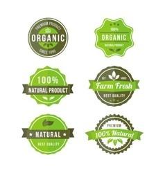original nature badges vector image vector image