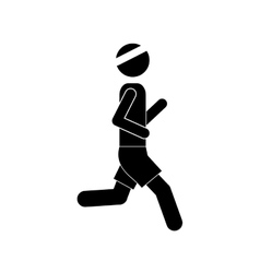 Pictogram man jogging icon design vector
