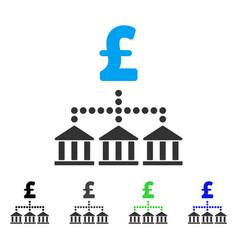 pound bank scheme flat icon vector image vector image