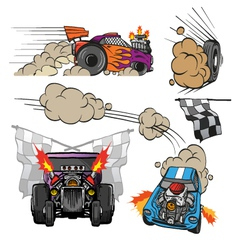 Racing cars set vector image