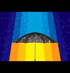 rain umbrella vector image vector image