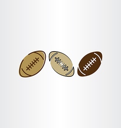 rugby ball football icon set vector image