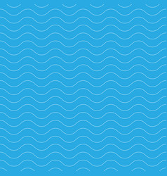 seamless wavy pattern white thin lines on blue vector image