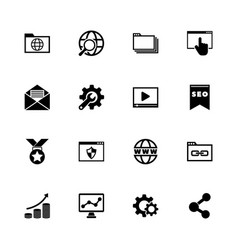 seo - flat icons vector image