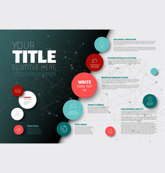 Simple infographic report template vector