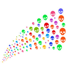 Source stream of skull vector