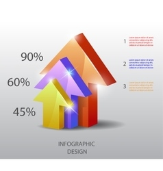 template in modern style For infographic vector image