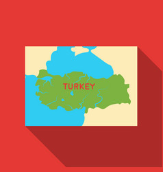 Territory of turkey icon in flate style isolated vector