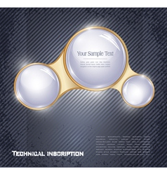 three glass balls vector image vector image