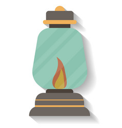 Vintage camping lantern icon isolated vector