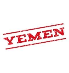 Yemen watermark stamp vector