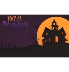 Happy halloween card template mix moon and vector