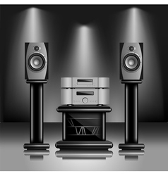 Hi-fi audio sound system vector