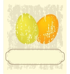 Easter card with hand drawn eggs vector