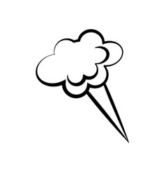 Cloud speech comic icon vector