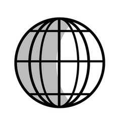 Line global earth planet to geography exploration vector