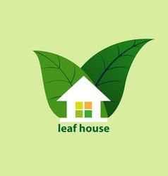 Leaf house vector