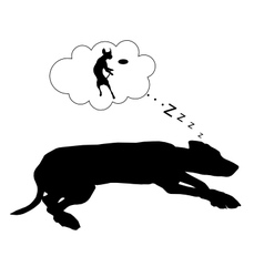 Dog dreams vector
