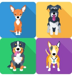 dog icon flat design vector image