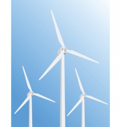 Windmill poster vector