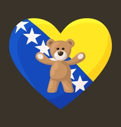 Bosnian and herzegovinian teddy bears vector