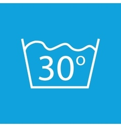 30 degrees wash icon vector