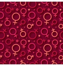 Seamless pattern with the female gender symbol vector