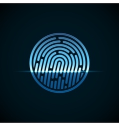 Fingerprint identification system with blue vector