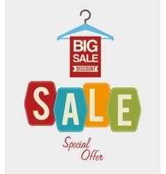 Shopping offers and sales vector