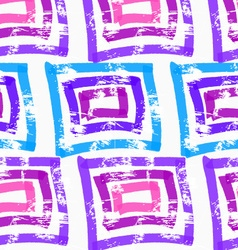 Rough brush blue and purple squares vector