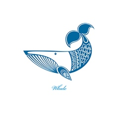 Blue whale vector image