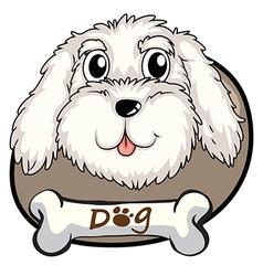 A head of a dog vector image vector image