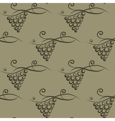 Background with stylized grape vector image