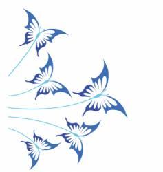 blue butterflies vector image vector image